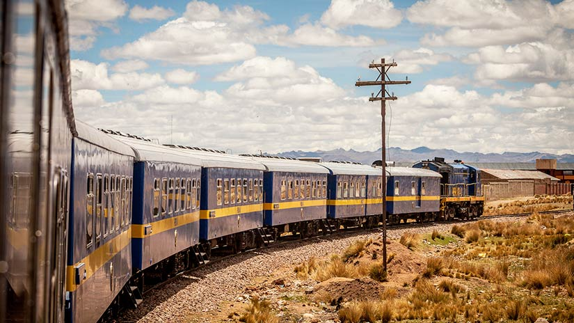 get from Lima to Machu Picchu in the train from Puno